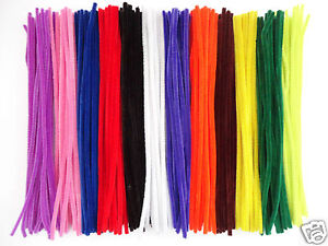 25-OR-50-CHENILLE-STEMS-CRAFT-PIPE-CLEANERS-SIZE-12-034-30CM-COLOUR-CHOICE