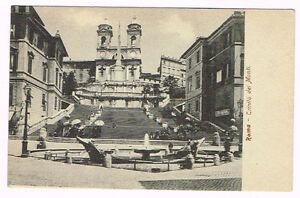 Vintage Postcard Italy 1900 ROMA ROME TRINITA' DEI MONTI ...