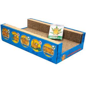 Cat-Scratcher-Sofa-Lounge-including-free-cat-nip-Cardboard-Scratch-Post-Cat-Bed
