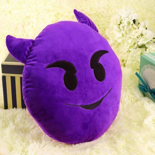 Emoji Lachen Emoticon Kissen Polster Dekokissen Stuhlkissen Sitzkissen Rund rh