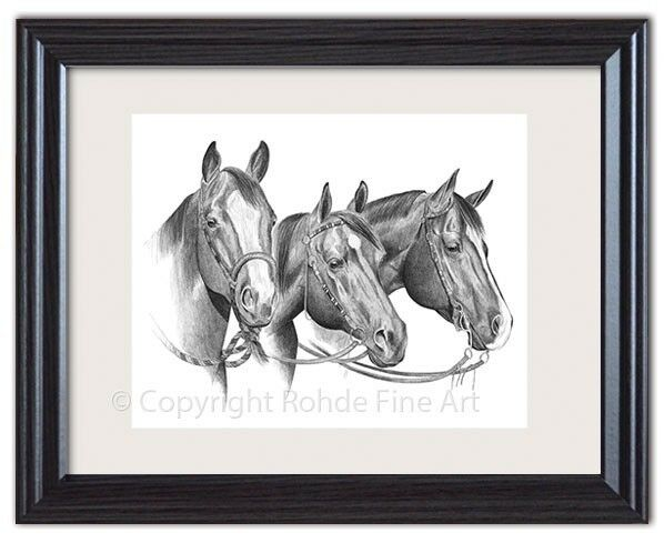 AMERICAN QUARTER HORSE BEAUTIFUL FRAMED ART western bridles  Artist Signed NICE  online retailers