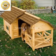 Barn Dog House Weather Resistant Wood Extra Large Outdoor Shelter Cage Kennel XL