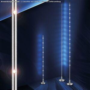 moderne led steh leuchte designer licht b ro diele flur stand lampe 1m edelstahl ebay. Black Bedroom Furniture Sets. Home Design Ideas