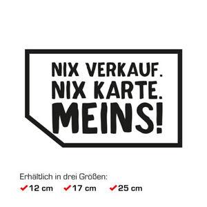 Auto Aufkleber Nix Verkauf Nix Karte Meins Heckscheibe