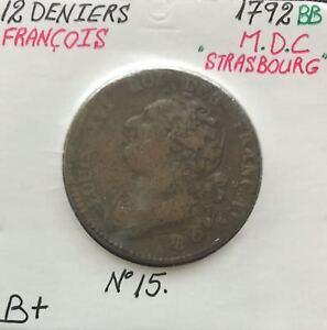 12-DENIERS-LOUIS-XVI-1792BB-Piece-de-Monnaie-en-MDC-B
