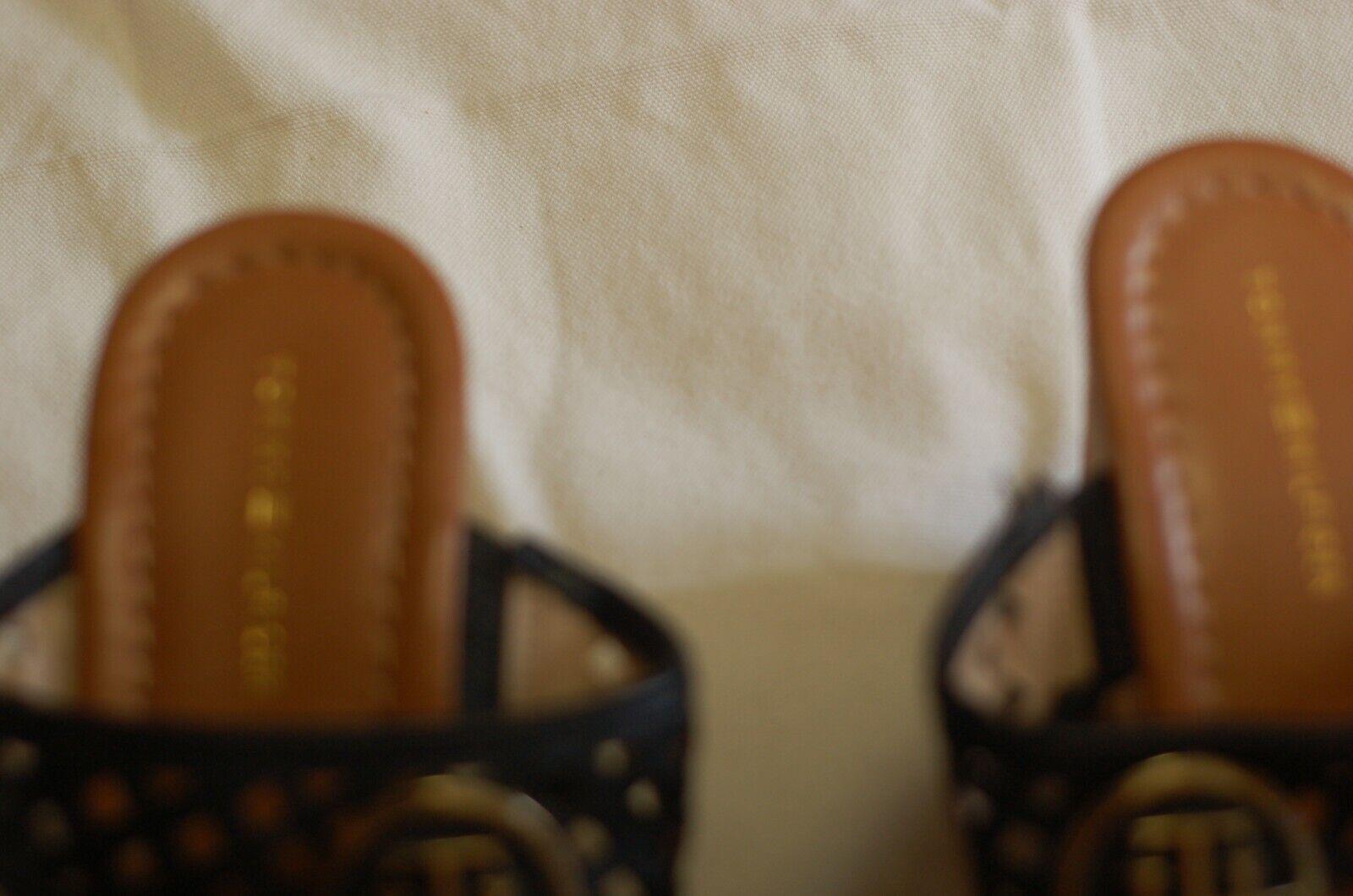 Tommy Hilfiger Black Leather Thong Sandals Cork W… - image 7