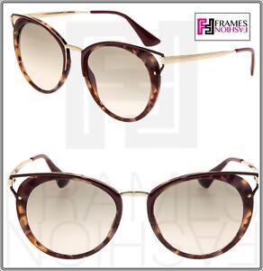 f15004a2a138 PRADA CINEMA PR66TS Bordeaux Havana Gold Gradient Cat Eye Sunglasses ...