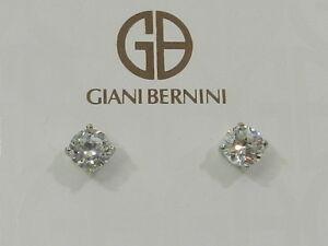 Image Is Loading Giani Bernini Sterling Silver Cubic Zirconia Stud Earrings