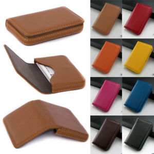 Men small mini pu leather credit id business card holder pocket case image is loading men small mini pu leather credit id business reheart Image collections