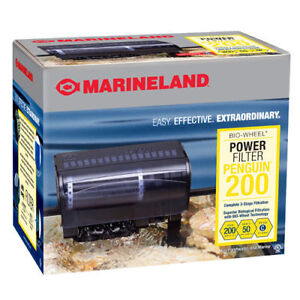 Marineland Penguin 200B Bio Wheel Power Filter (200GPH 30 ...
