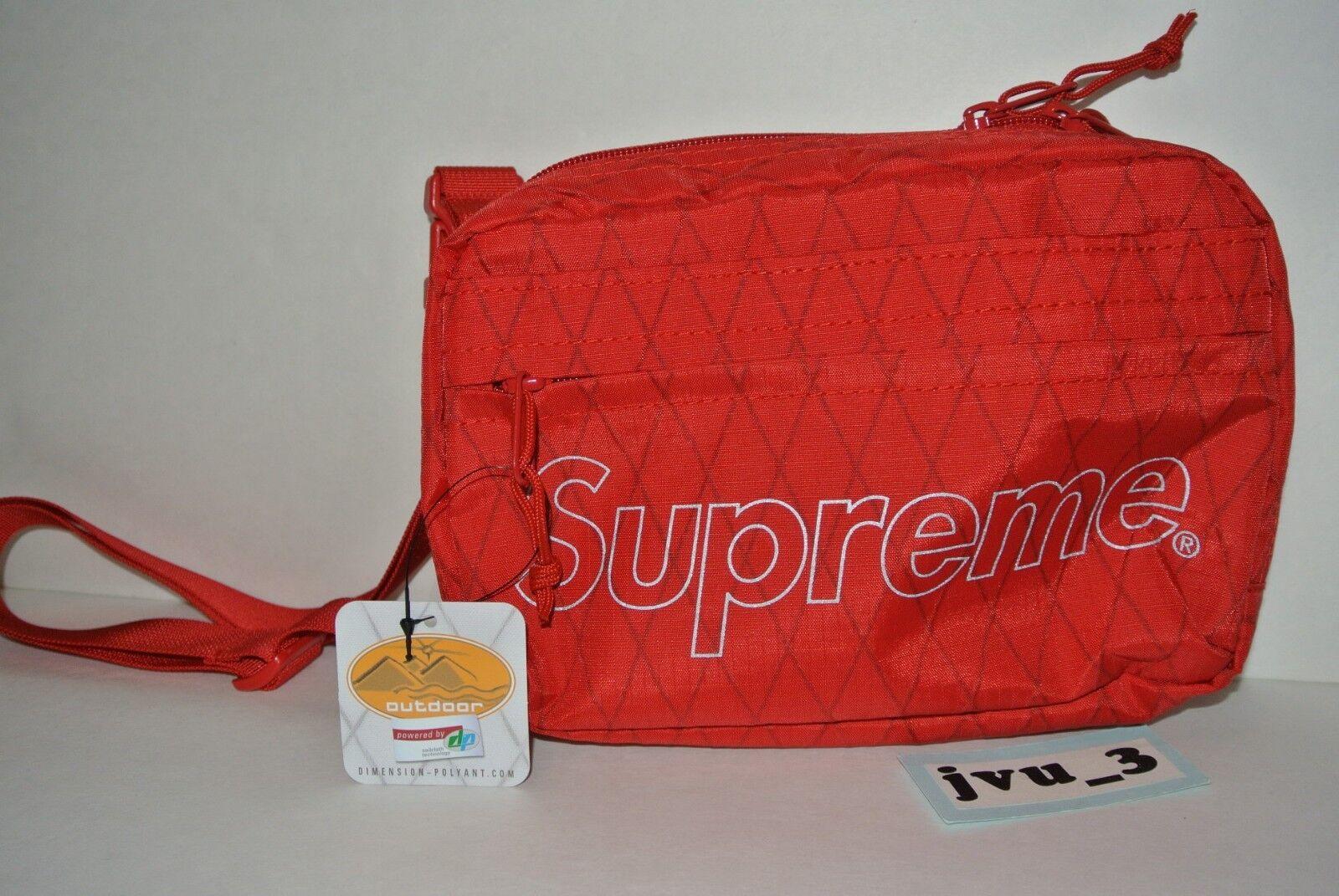 1d25d12d476 Supreme Fw18 Shoulder Bag Red 3m Reflective DP Dimension Polyant Sailcloth  Tech for sale online | eBay