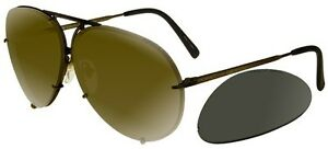 Porsche Design P8478 matte brown gold bronze + grey lenses (E AD ... 7086e8a120b