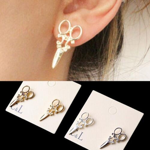 2X Frauen Ohrringe Ohrstecker Einzigartige Schere Punk Ohrring Trendy Schmuck BC