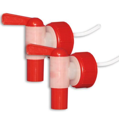 2er Pack Kunststoffkanisterhahn AFT Hahn DIN 45 Plastik lebensmittelecht robust