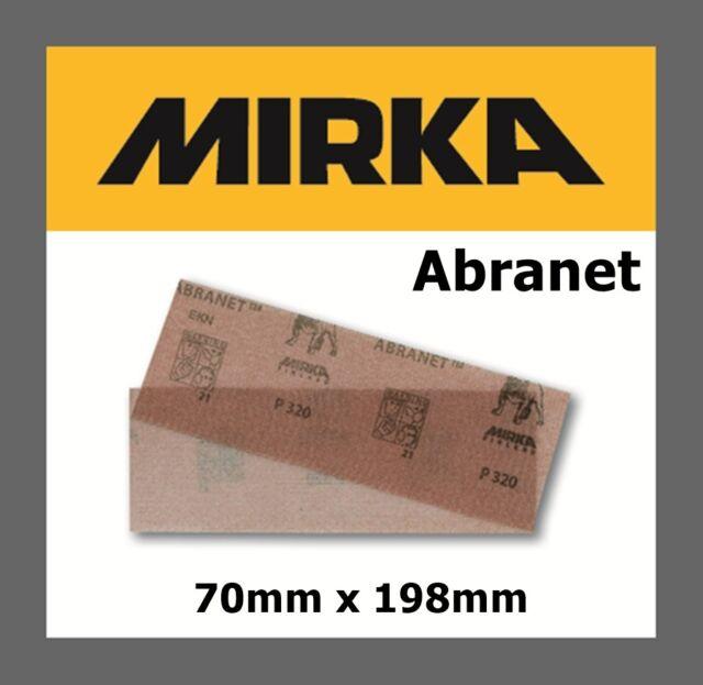 Mirka Abranet Schleiftstreifen Netzgitter Schleifgitter 70 x 125 mm Korn 80