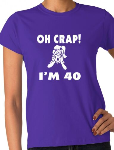 Oh Crap 40th Birthday Present Funny Ladies Gift T-Shirt  Size S-XXL