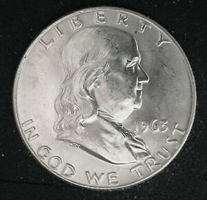 1963-D-FRANKLIN-HALF-DOLLAR-50-CENTS-90-SILVER-UNCIRCULATED-COIN-1841
