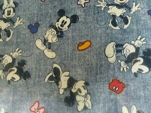 Disney Mickey and Minnie Mouse ~ 100/% Cotton Fabric ~