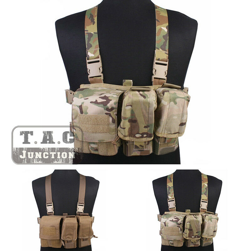 Emerson Tactical Combat Assault Lightweight Chest Rig Vest Harness with Pouches