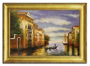 Quadro-a-Olio-Dipinto-Immagine-Mano-con-Telaio-Barocco-Arte-96499