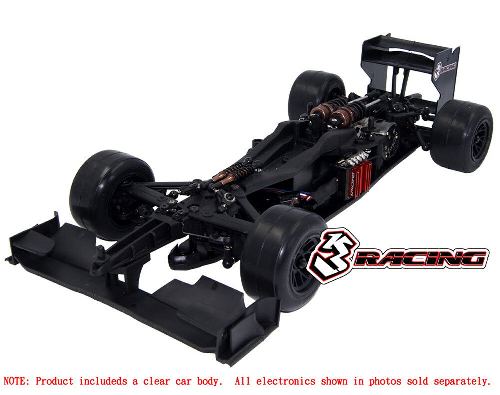 3Racing Sakura FGX2018 1 10 F-1 Formula 1 EP Car Kit KIT-FGX-EVO2018 CL Clear