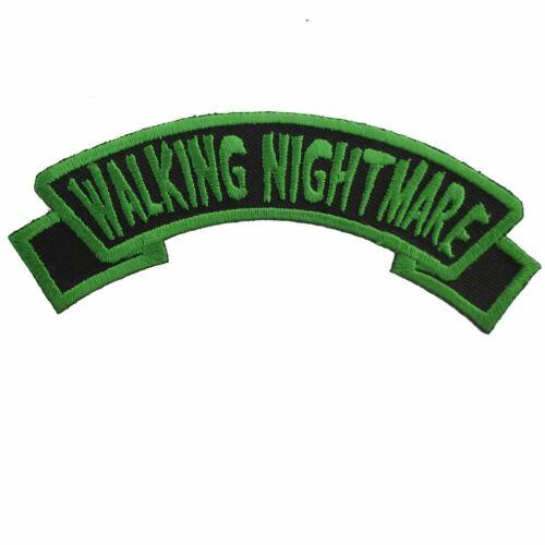 Kreepsville Walking Nightmare Goth Rockabilly Punk Horror Iron On Patch PAGWN