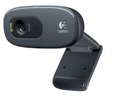 Logitech C270 Webcam USB HD Pro 3.0 MP with Mic - Video Calling and Recording