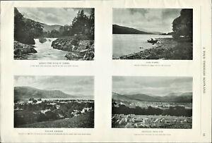 Vintage-B-amp-W-Photographic-Print-Tour-Through-Scotland-Tummel-Aberfeldy-Lochleven