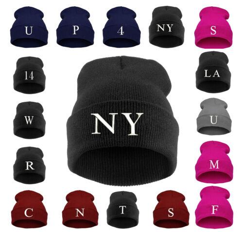 Unisex Kids Children Knitted Beanie Hat Hats Cap Winter Worm Girls Boys Letter