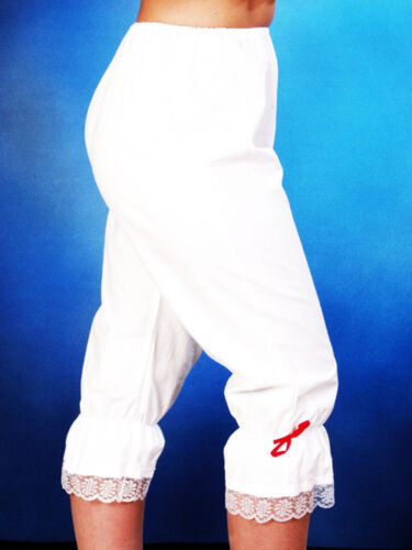 White Pantaloon Bloomers Victorian Pantomime Dame Fancy Dress