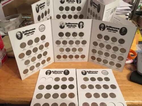 MORE! Jefferson Nickels 1938-2019;  Includes Silver In Coin Folders