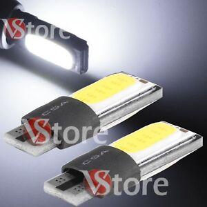 2-Veilleuses-LED-T10-ampoules-COB-Plat-Canbus-5W-BLANC-ANTI-ERREUR-Lampe-12V