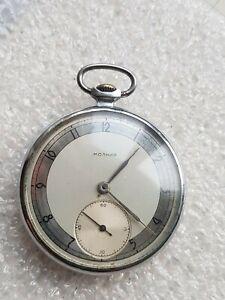 MOLNIJA ChK-6 Military Soviet pocket watch 1Q-1955 Original