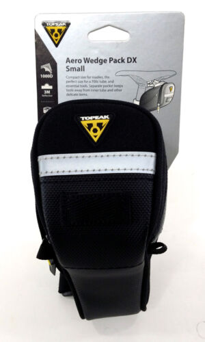 Topeak Aero Wedge Pack DX - Small Bicycle/Bike Seat Bag w/ QuickClick Fixer