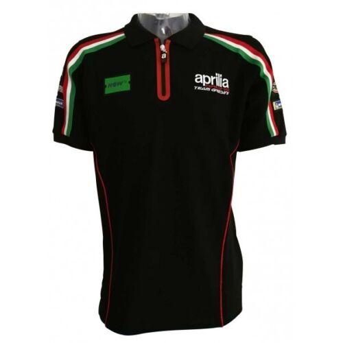 Aprilia Racing Gresini Offizielle Motogp Rennen Team Pit Paddock Polo Zip Shirt