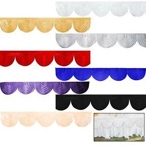 3-m-Or-Blanc-glace-soie-SWAG-pour-fete-de-mariage-decors-rideaux-decoration