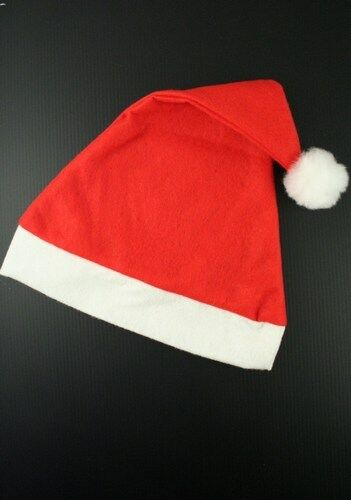 FATHER CHRISTMAS RED SANTA HAT XMAS OFFICE PARTY ACCESSORY