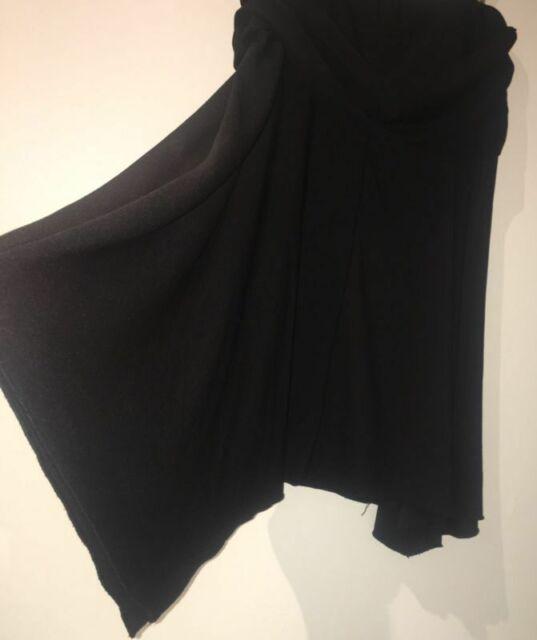 Crossroads Size 14 Fully Stretchy Black Asymmetrical Mid-Length Skirt