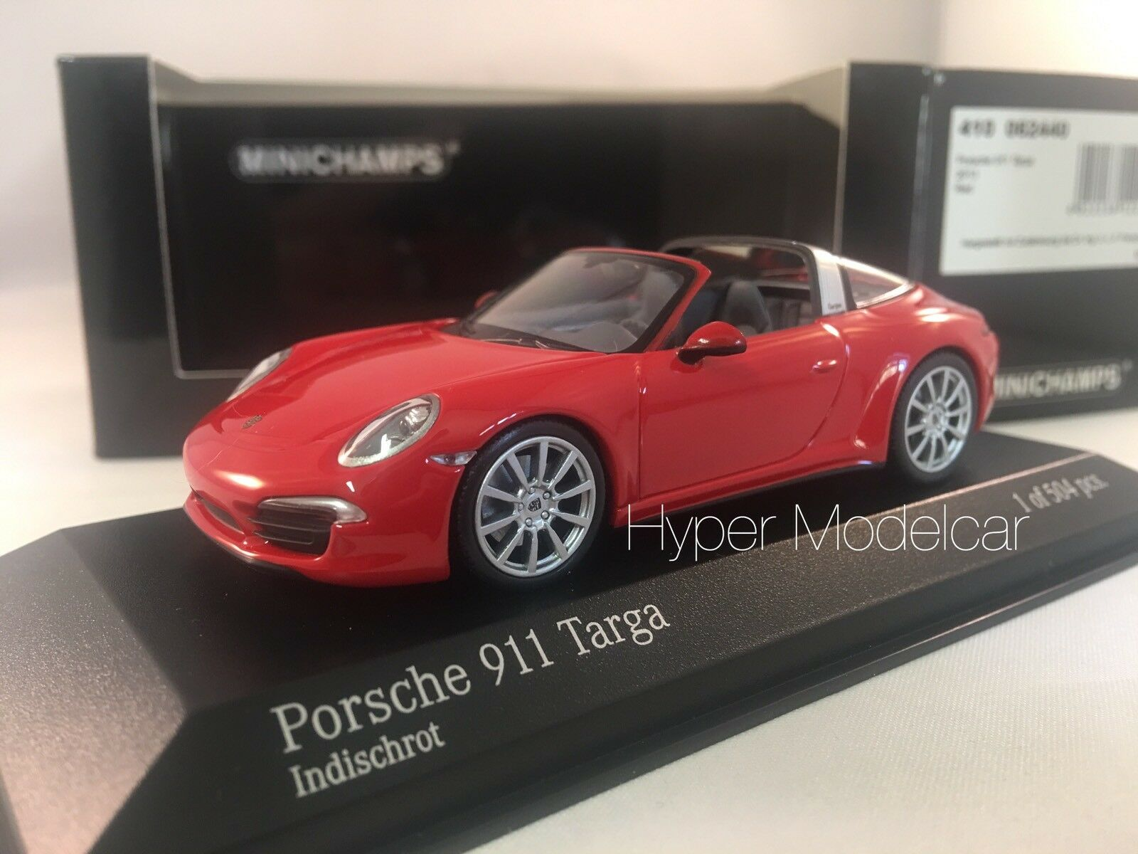 MINICHAMPS 1/43 Porsche 911 (991) Targa 2013 Red Art. 410062440