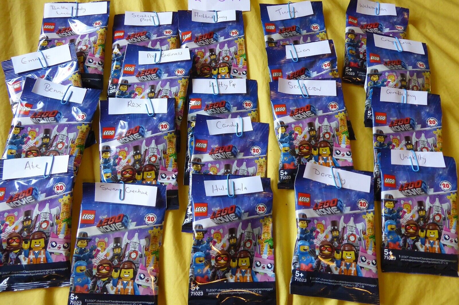 The Lego Movie 2 - Complete set of Collectible Minifigures - Unopened.