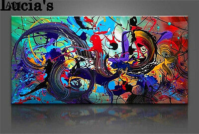 Modern Abstract 100% handmade Huge Art Oil Painting Wall Decor canvas-no stretch