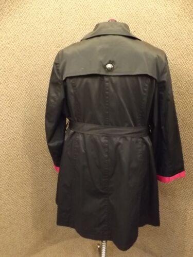 Fuschia Kvinders Sz Ny Co Klassisk Sort Bæltet Plus Jakke 22w Style Forår UwI0qgEq