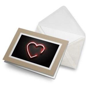 Greetings-Card-Biege-Black-Brick-Neon-Heart-Sign-3939