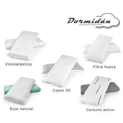 Almohada almohadas viscoelastica, copos 3D, fibra hueca, soja natural, carbono