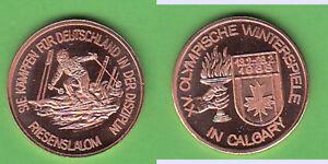 Olympiade-Calgary-1988-Riesenslalom-dt-Teilnehmer-Cu-Medaille-18-mm-cc1