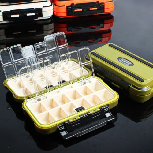 24 Compartment 2 Layer Waterproof Fishing Lure Bait Tackle Storage Box Case New
