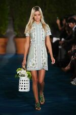 Tory Burch Dress 6 Talia Botanical RARE Floral  Sleeveless $450 Green Runway M