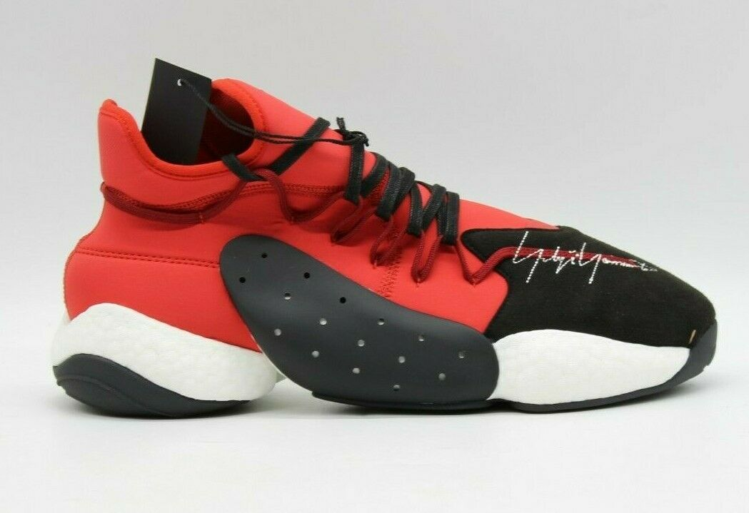 Adidas x Y-3 BYW BBall Core Black Lush Red BC0338 James Harden Basketball sz 12