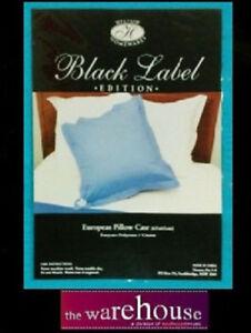 European-65x65cm-Euro-Pillow-Case-Pillowcase-250TC-Various-Colours-PolyCotton