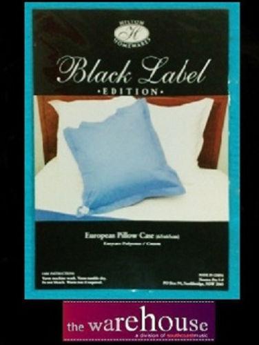 European 65x65cm Euro Pillow Case Pillowcase 250 TC Various Colours Poly Cotton